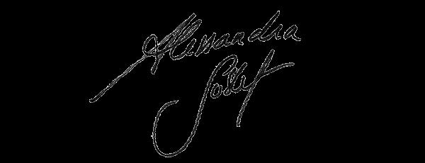Visuel de la signature d'Alessandra Sublet