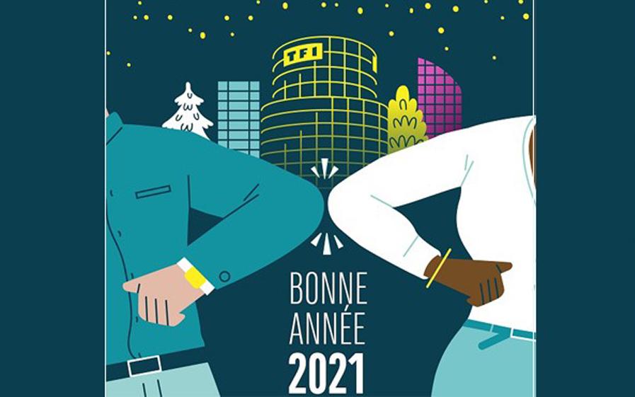 Les chaines de groupe TF1, vous présentent leurs vœux pour 2021