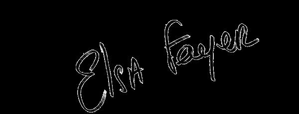 Visuel de la signature d'Elsa Fayer, présentatrice sur TFX