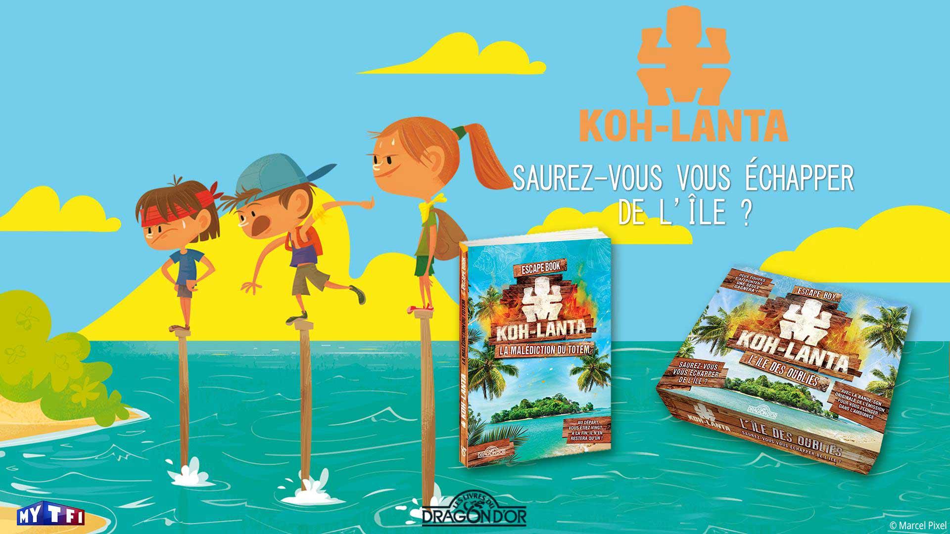 Visuel du jeu-concours pour gagner l'escape book et l'escape box Koh-Lanta avec TF1 et Vous
