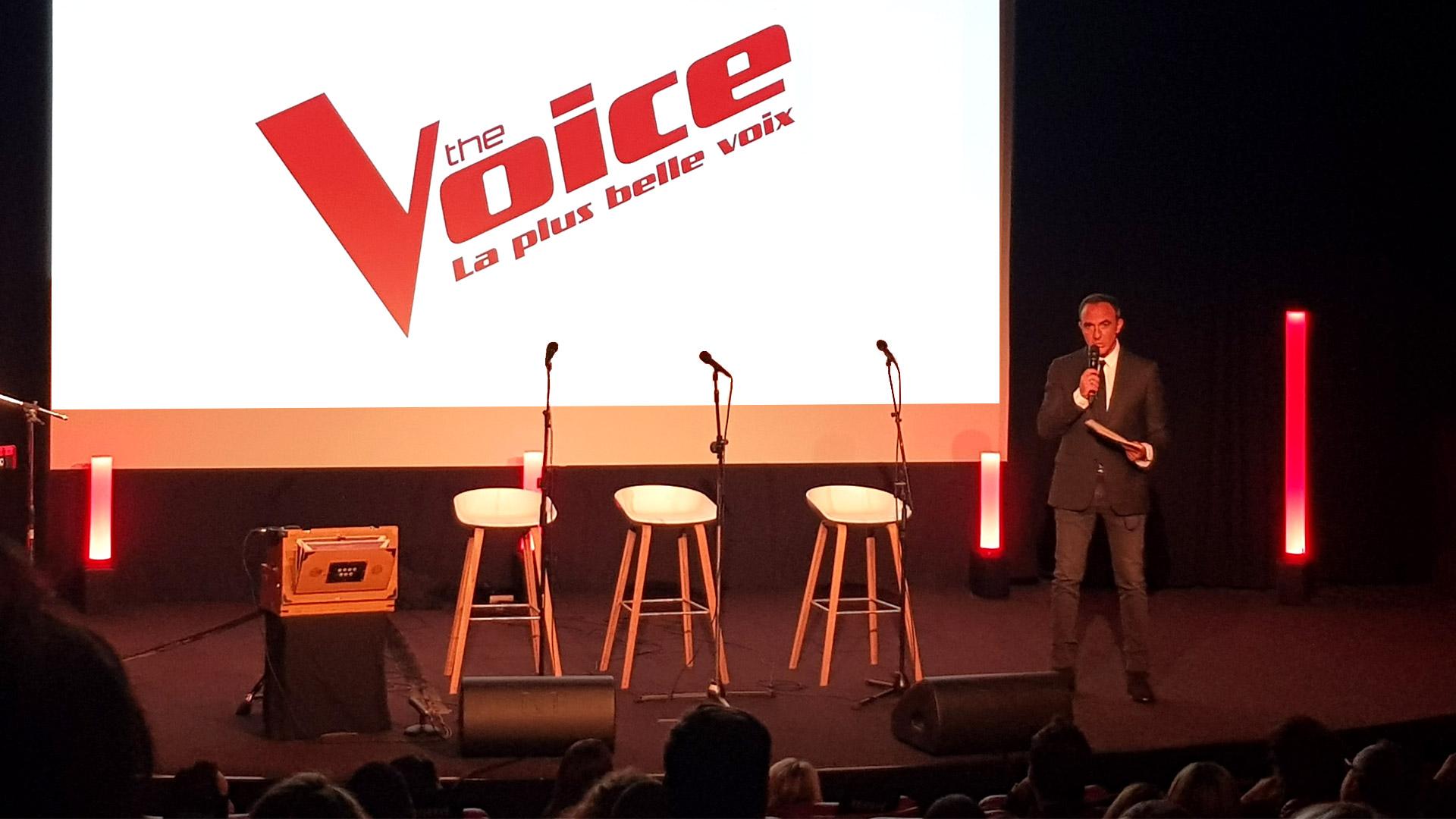 Conférence de presse The Voice, événement organisé avec TF1 et Vous