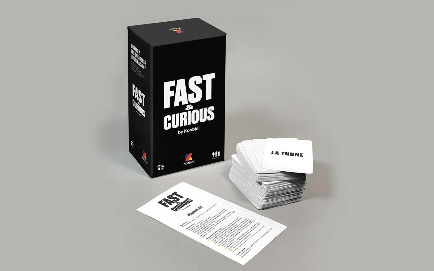 jeu de société Fast & Curious by Konbini