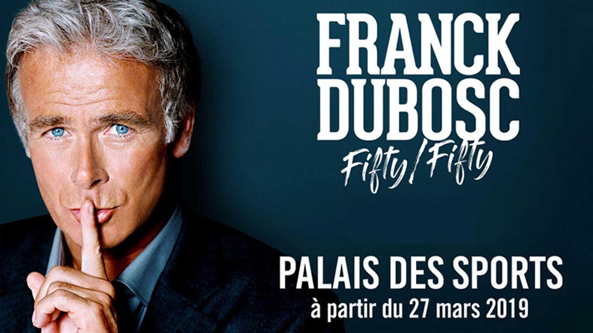 Visuel du jeu-concours pour assister au spectacle Fifty Fifty de Frank Dubosc avec TF1 et Vous