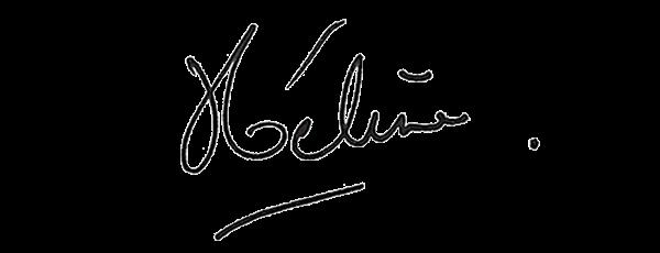 Visuel de la signature d'Hélène Gateau, présentatrice sur Ushuaïa TV