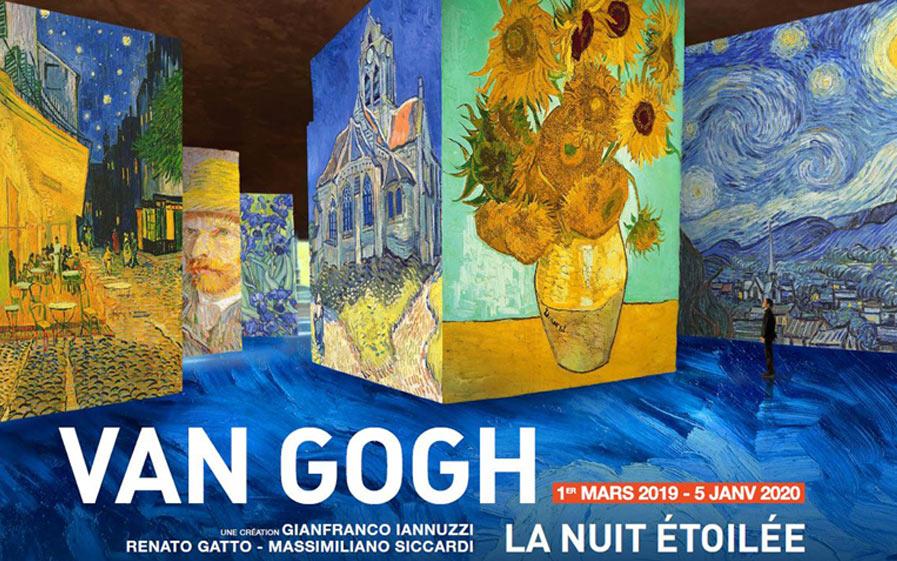 """Visuel du jeu-concours pour découvrir l'exposition immersive """"Van Gogh, la nuit étoilée"""" aux carrières de lumières des baux-de-provence, avec TF1 et Vous"""