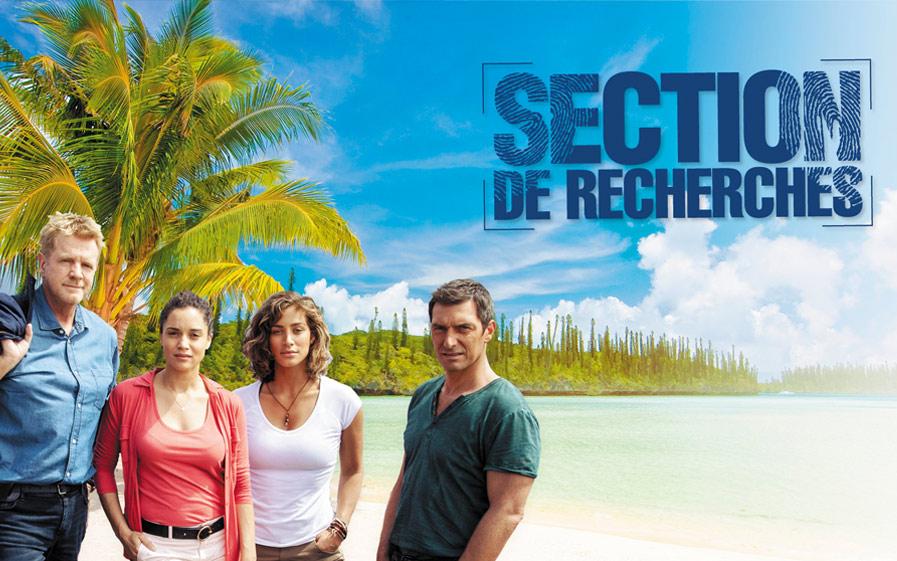Visuel du jeu-concours pour gagner un voyage pour deux personnes à Nouméa, lieu de tournage de la série Section de Recherches, avec TF1 et Vous