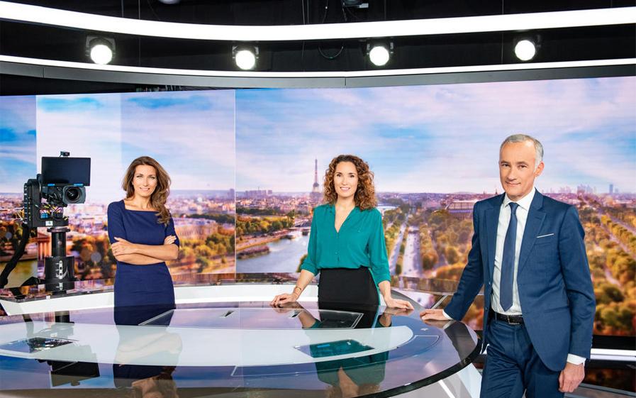 Gilles Bouleau, Marie-Sophie Lacarrau et Anne-Claire Coudray