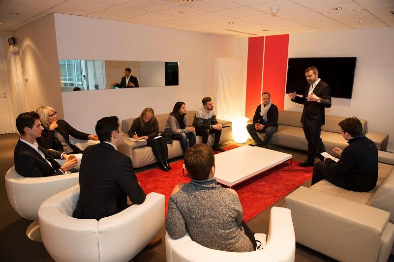 Thierry Thuillier, lors des rencontres de l'information à TF1