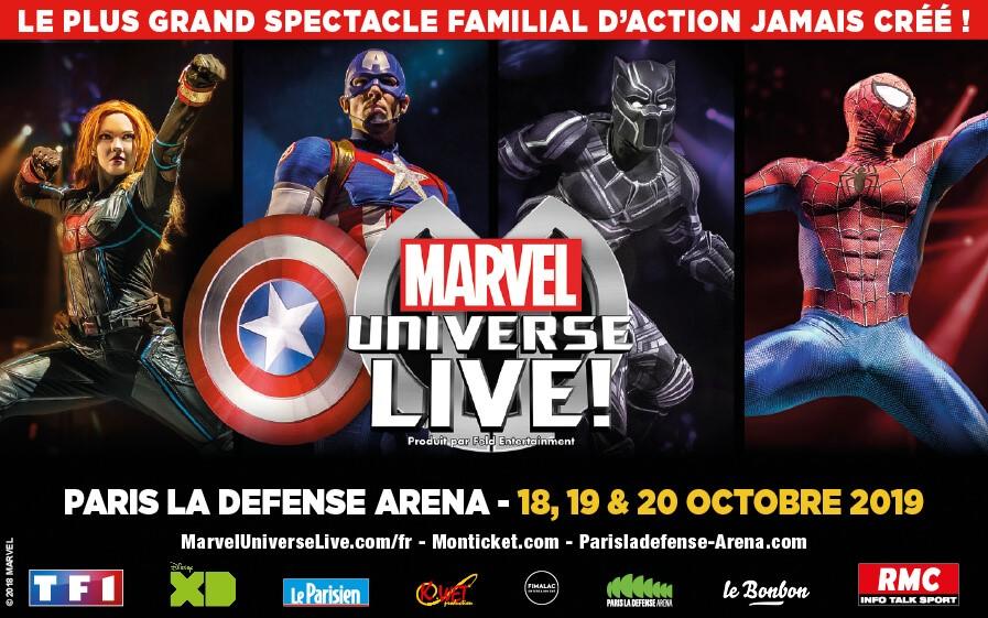 TF1 vous offre des places pour Marvel Universe Live