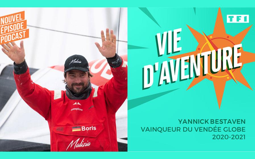 Nouveau podcast Vie d'Aventure avec Yannick Bestaven au micro de Denis Brogniart