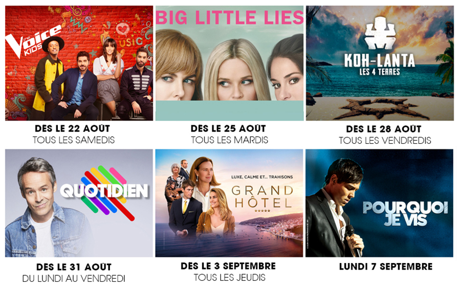 La rentrée 2020 sur les chaînes du groupe TF1