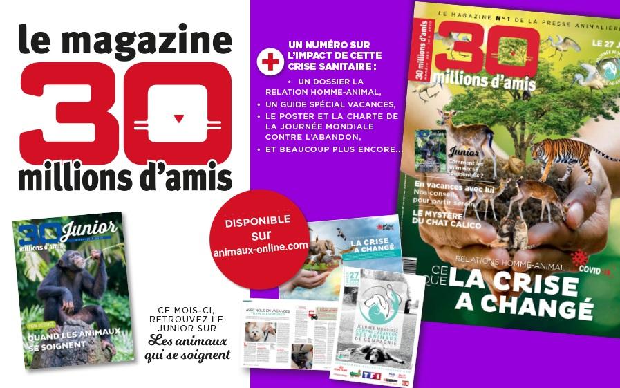 Gagnez votre abonnement au magazine 30 millions d'amis avec TFX