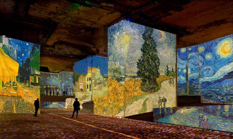 """Visuel de l'exposition Van Gogh """"La Nuit Etoilée"""" aux Carrières de Lumières des Baux-de-Provence avec TF1etVous"""