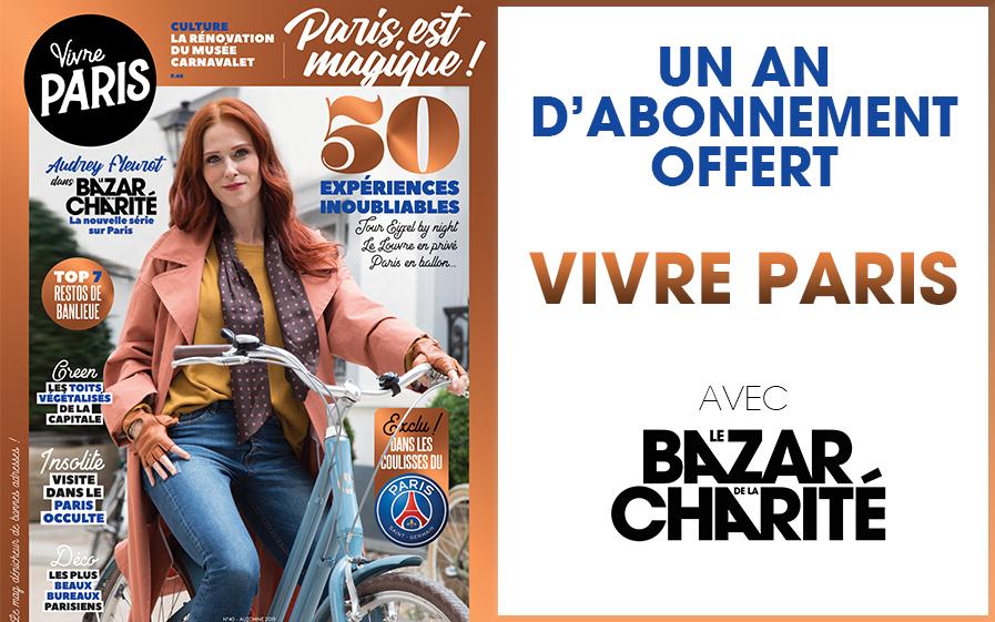 """Gagnez un an d'abonnement au magazine """"Vivre Paris"""""""