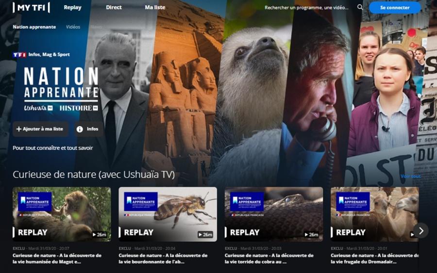 Visuel de l'article Ushuaïa TV et Histoire TV rejoignent l'opération « Nation apprenante »