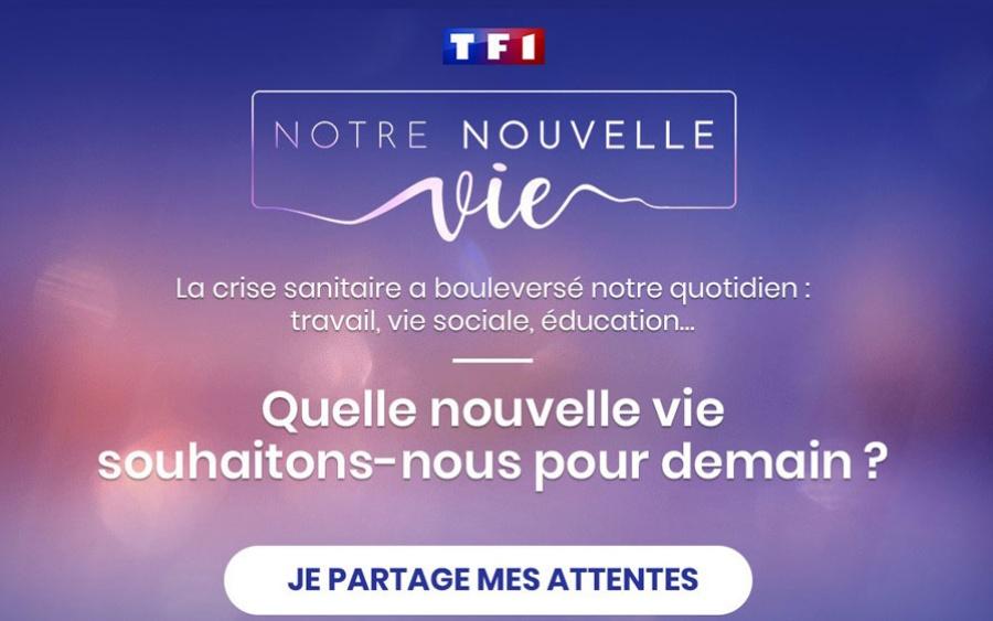 """""""Notre nouvelle vie"""", la consultation citoyenne lancée par l'information du Groupe TF1, avec Sciences Po, et la plateforme Bluenove."""