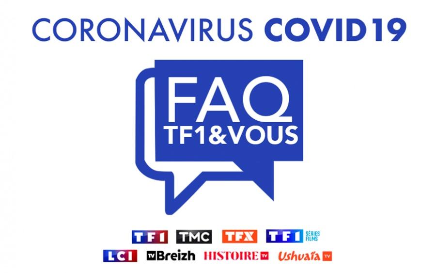 Coronavirus : découvrez la FAQ dédiée aux activités du groupe TF1.